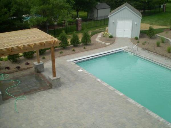 Inground pools patio deck pergola and gazebo for Inground swimming pool contractors